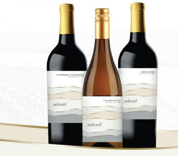 Three bottles of subsoil wine
